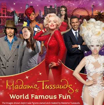 20% Off Madame Tussauds Single-Day Tickets