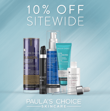 Save 10% off at PaulasChoice.com