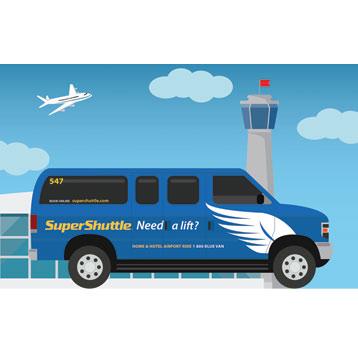 Ahorre un 10% con SuperShuttle Airport Rides