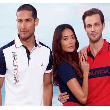 Save 15% on $100 or more at Nautica Outlet stores in the U.S.