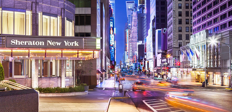 Enjoy one of the best locations in Manhattan staying at Sheraton New York Times Square.