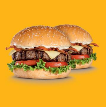Paga tu hamburguesa Parrillera o Queso Tocino con tu tarjeta de débito, crédito o prepago Visa y llévate la segunda gratis.