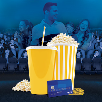 Solo con Visa recibes un Cine Combo gratis en Caribbean Cinemas.